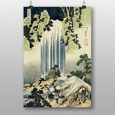 "Big Box Art ""Katsushika The Waterfall of Yoro Japanese Oriental"" Art by Hokusai Art Print"
