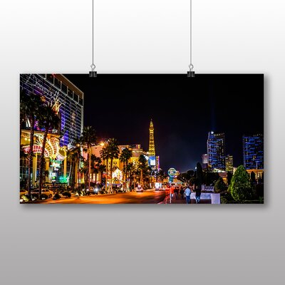 Big Box Art Las Vegas Strip Skyline Nevada USA No.3 Photographic Print Wrapped on Canvas