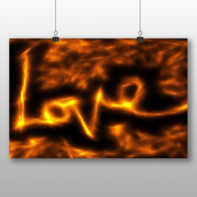 Big Box Art Love Flames Abstract Graphic Art on Canvas