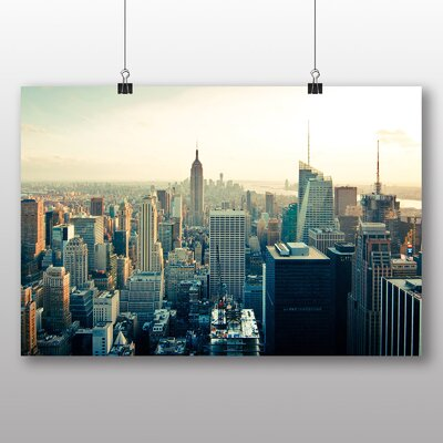 Big Box Art Manhattan New York City Skyline USA No.4 Photographic Print on Canvas