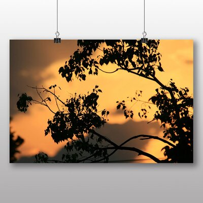Big Box Art Honey Filled Sky Sunset Photographic Print on Canvas