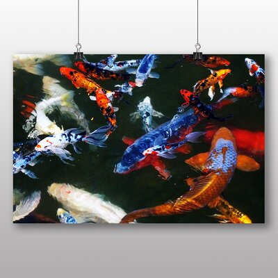 Big Box Art Koi Fish No.2 Graphic Art Wrapped on Canvas