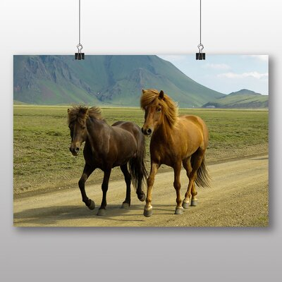 Big Box Art Horses Photographic Print Wrapped on Canvas