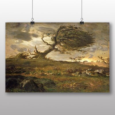 Big Box Art 'The Gust of Wind' by Jean Francois Millet Art Print