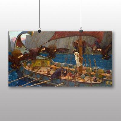 Big Box Art Ulises and the Sirens' by John William Waterhouse Art Print
