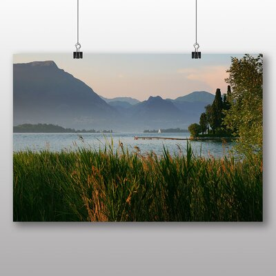 Big Box Art Jetty and Lake No.2 Photographic Print on Canvas