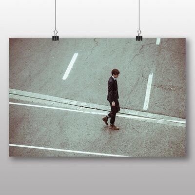 Big Box Art 'Man Crossing the Road' Photographic Print