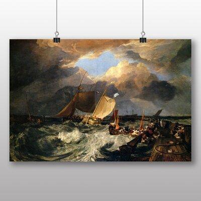 Big Box Art 'Calais Pier' by Joseph Mallord William Turner Art Print