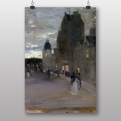 Big Box Art Street in Oban at Night by James Guthrie Art Print
