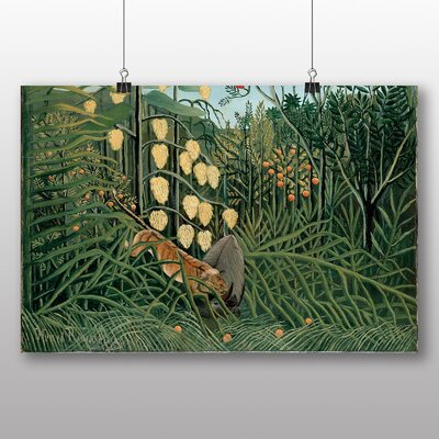 Big Box Art 'In a Tropical Forest' by Henri Rousseau Art Print