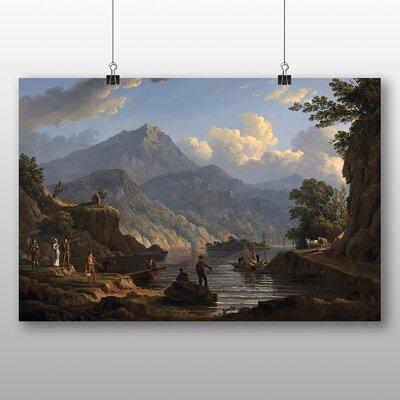 Big Box Art 'Landscape with Tourists at Loch Katrine' by John Knox Art Print