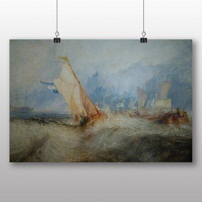 Big Box Art 'Ship at Sea' by Joseph Mallord William Turner Art Print