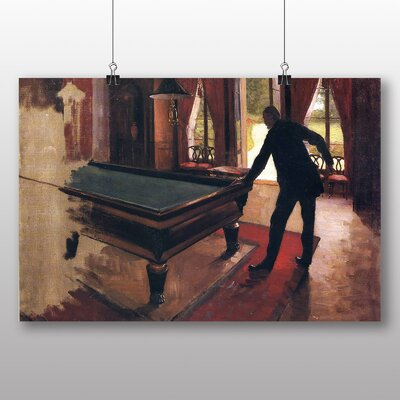 Big Box Art 'Billiards' by Gustave Caillebotte Art Print