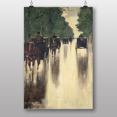 Big Box Art Horses and Carriages by Lesser Ury Art Print