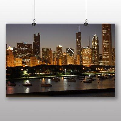 Big Box Art Illinois Chicago Skyline USA Photographic Print