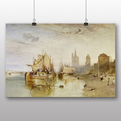 Big Box Art 'The Arrival of a Packet Boat' by Joseph Mallord William Turner Art Print
