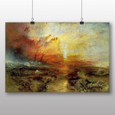 Big Box Art 'The Slave Ship' by Joseph Mallord William Turner Art Print