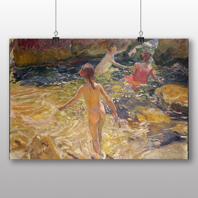 Big Box Art Swimming in the Sea' by Joaquin Sorolla Y Bastida Art Print