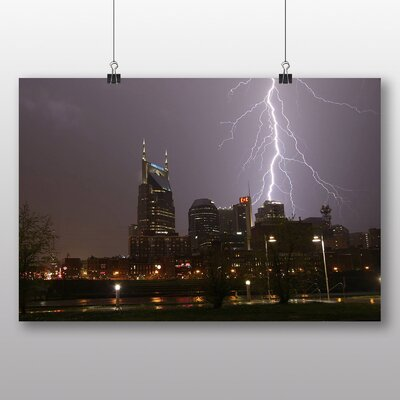 Big Box Art 'Lightening Over the City' Photographic Print
