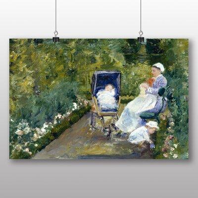 Big Box Art 'Children in the Garden' by Mary Cassatt Art Print