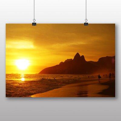 Big Box Art Ipanema Beach Rio De Janeiro Brazil Photographic Print Wrapped on Canvas