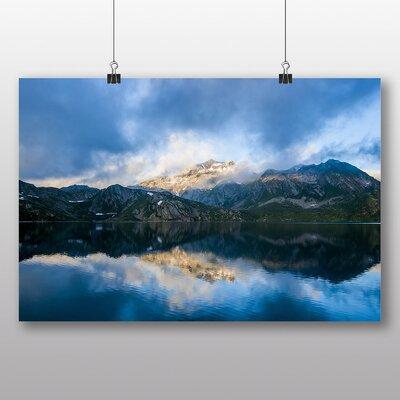Big Box Art 'Idyllic Lake and Mountain Landscape No.1' Photographic Print