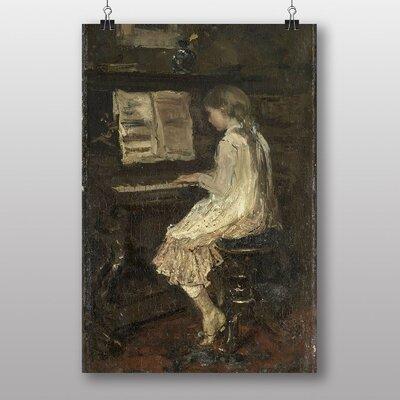 "Big Box Art ""Girl at the Piano"" by Jacob Maris Art Print"