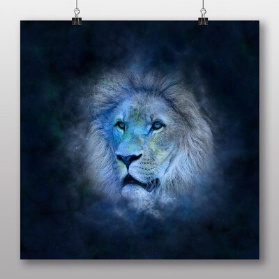 Big Box Art Leo Lion Astrology Zodiac Graphic Art on Canvas