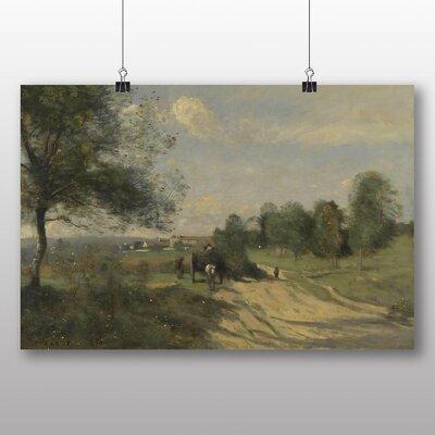 Big Box Art 'The Wagon' by Jean Baptiste Camille Corot Art Print