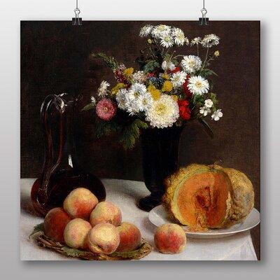 Big Box Art 'Flowers and Fruit' by Henri Fantin-Latour Art Print