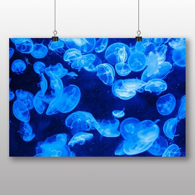 Big Box Art Jellyfish No.2 Graphic Art Wrapped on Canvas