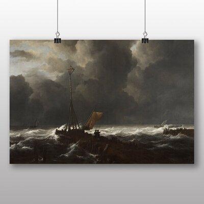 Big Box Art 'Rough Sea at a Jetty' by Jacob Ruisdael Art Print