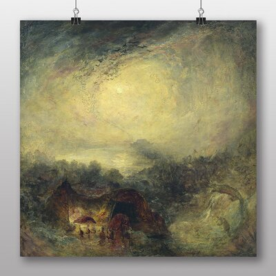 Big Box Art 'Evening of the Deluge' by Joseph Mallord William Turner Art Print