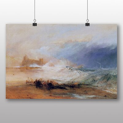 Big Box Art 'Northumberland with a Steamboat' by Joseph Mallord William Turner Art Print