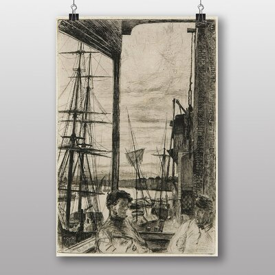 """Big Box Art """"Rotherhithe"""" by James McNeill Whistler Art Print"""