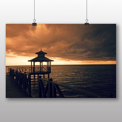 Big Box Art Jamaica Sunset Photographic Print Wrapped on Canvas