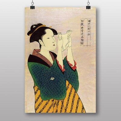 "Big Box Art ""Vintage Japanese Oriental No.2"" by Kitagawa Utamaro Art Print"