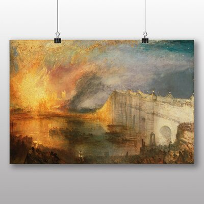 Big Box Art 'The Burning of the Houses of Commons' by Joseph Mallord William Turner Art Print