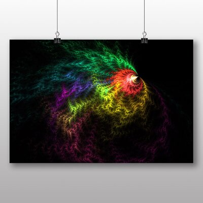 Big Box Art Mixed Colour Fractal Abstract No.48 Graphic Art on Canvas