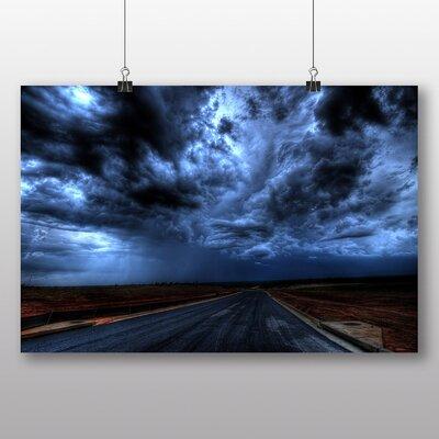 Big Box Art 'Moody Sky Over the Road' Photographic Print