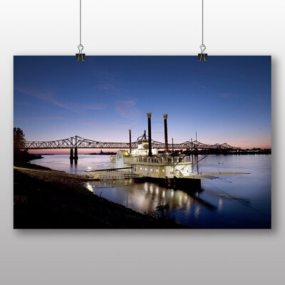Big Box Art Mississippi Riverboat USA Photographic Print Wrapped on Canvas