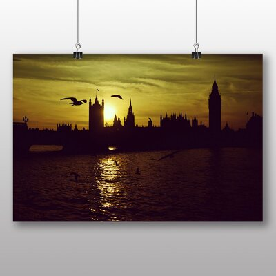 Big Box Art London Skyline City Sunset Big Ben Photographic Print
