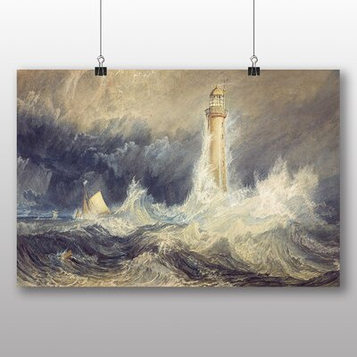 Big Box Art 'Bell Rock Lighthouse' by Joseph Mallord William Turner Art Print