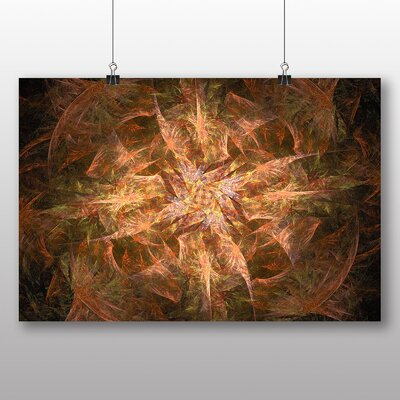 Big Box Art Mixed Colour Fractal Abstract No.7 Graphic Art Wrapped on Canvas