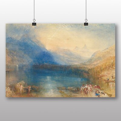 Big Box Art 'Lake of Zug' by Joseph Mallord William Turner Art Print