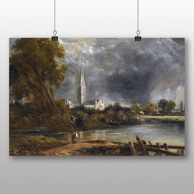 Big Box Art 'Salisbury Cathedral from the Meadows' by John Constable Art Print