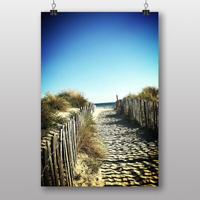 Big Box Art Montpellier Sand Beach France Photographic Print Wrapped on Canvas