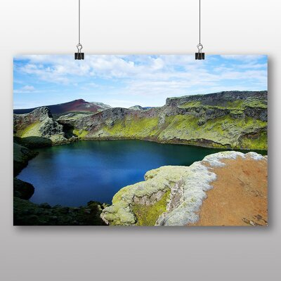 Big Box Art Lake in Iceland Photographic Print Wrapped on Canvas
