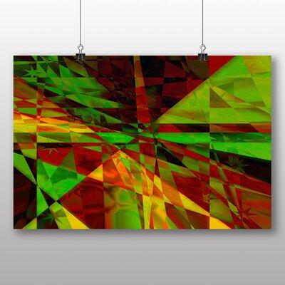 Big Box Art Coloured Abstract No.10 Graphic Art