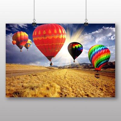 Big Box Art Hot Air Balloon No.3 Graphic Art Wrapped on Canvas